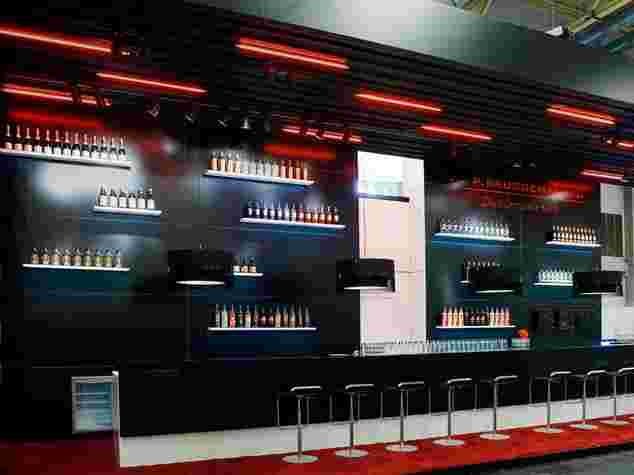Lounge und Bar am Messestand