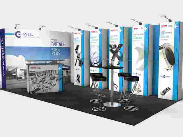 Ecoline-Mosaic Messestand, 6x4 Meter, Messe Bern