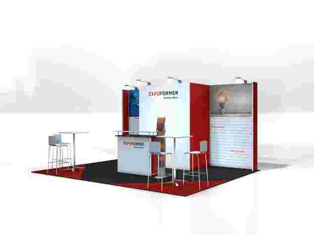 ECOline-Engage Messestand 4x5 Meter, Messe Bern