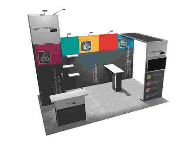 Modularer Panoramic Messestand
